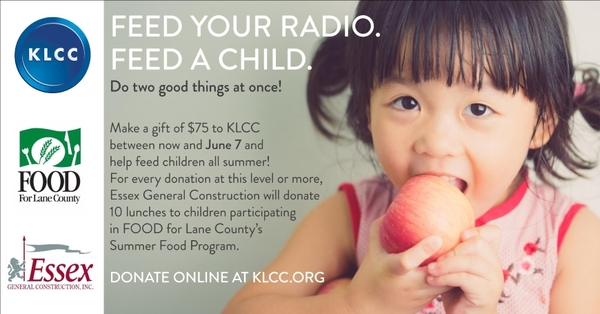 Feed your radio. Feed a child. image