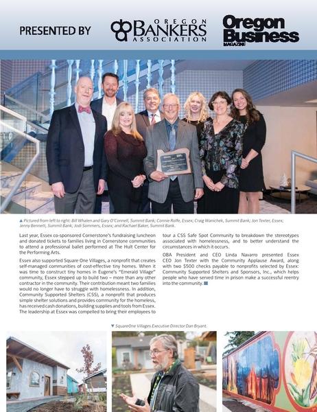 Essex featured in Oregon Business Magazine image