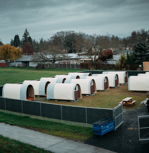 Image Five new full-sized camps to support the un-housed
